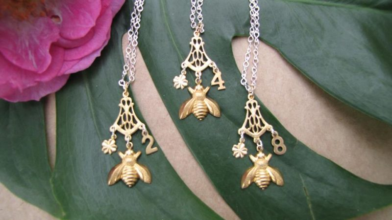 Lucky bee necklaces
