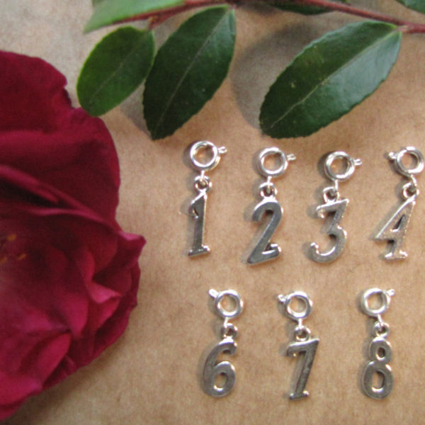Number Charms-spring-clasp