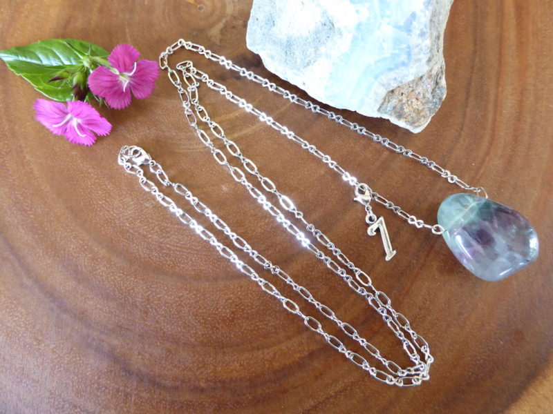 Fluorite Wonder Necklace -Blue charm