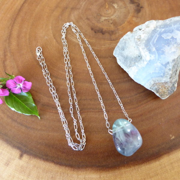 Fluorite Wonder Necklace -Blue