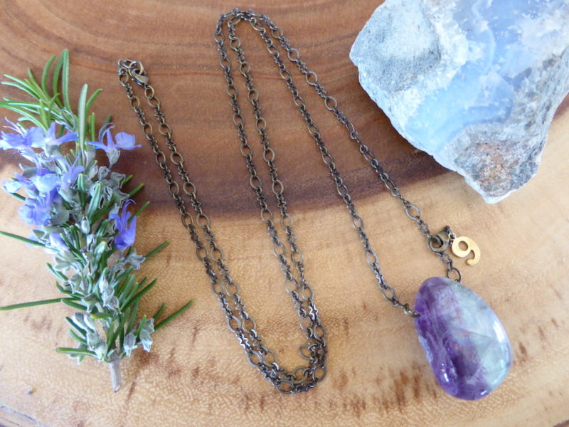 Fluorite Wonder Necklace -Purple Charm